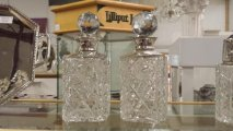 Fine Silver Topped Decanters