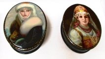 Handpainted Russian Laquer Boxes - click for more