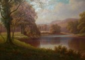 The Wharfe, Near Bolton Woods - Everett Watson Mellor (1878-1965) Est £400-£600