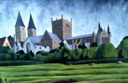 Southwell Minster with Palace Ruins