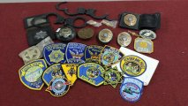 A collection of US Police Officer Badges belonging to Officer Ralph Cameron Lacy of the San Francisco Police Dept