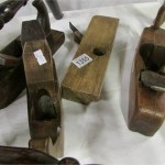 4 early woodworking planes including 17/1800's and Continental horned plane 1757 Est £200-£300