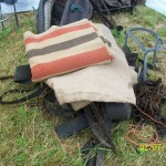 Harness, blankets etc