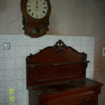 mahogany chiffioniere and wall clock