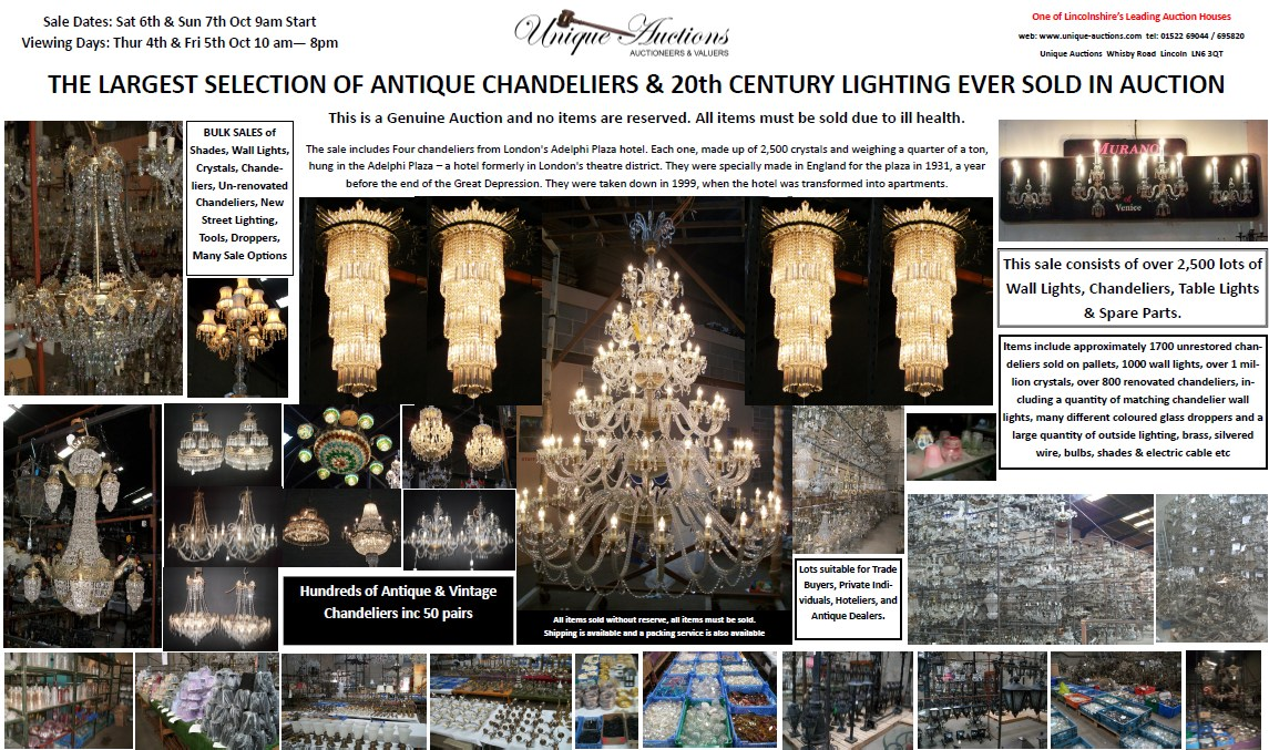 Antique chandelier lighting auction 2012 unique auctions lincoln click aloadofball Images