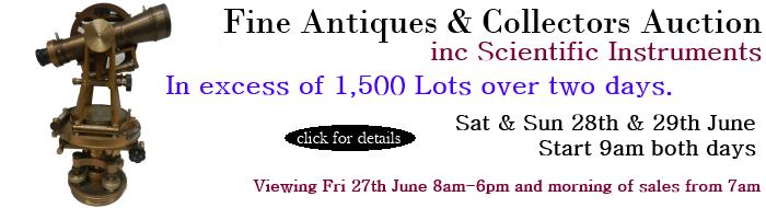 Fine Antiques & Collectors Auction – Sat 28th & Sun 29th June 2014