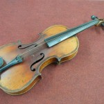 A 19th century violin, 2 bows and case