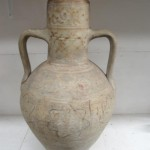 Early Islamic Middle Eastern Two Handled Vase