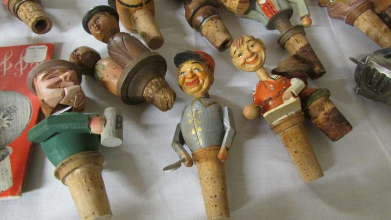 Vintage Wood Cork Wine Bottle Stoppers