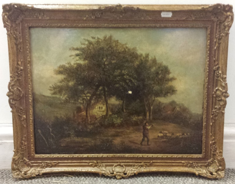 Fine Art including Man Driving Sheep by P Nasmyth