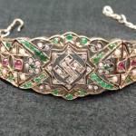 Unusual jewelled bracelet featuring Nazi Swastika symbol