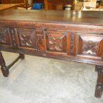 an 18th century oak cupboard