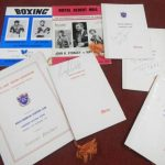 Boxing Memorabilia signed by Joe Louis, Floyd Patterson, Tommy Farr etc and Ali / Fraizer Programme