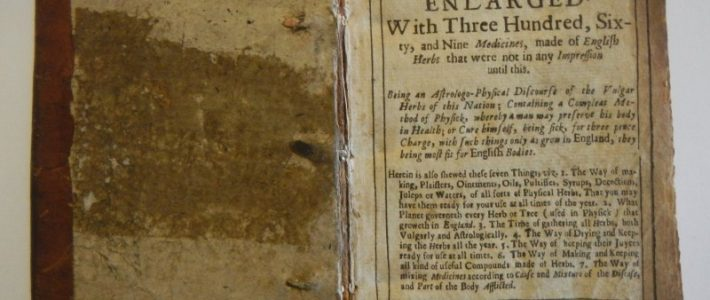 a 1671 edition of  The English Physitian by Nicholas Culpepper