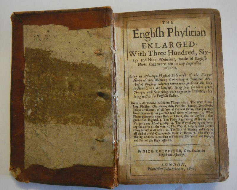 THE ENGLISH PHYSICIAN Enlarged with Three Hundred Sixty Nine Medicines 1671 Nicholas Culpepper