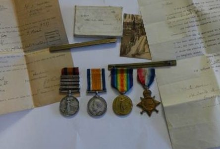 Queen's South Africa Medal and WWI Medals of Pte G J Heal of Derby and Lincoln Regiments
