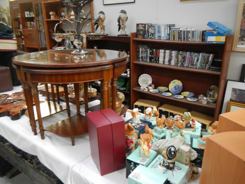 Includes Antique Furniture, New Furniture, New Beds, Pen Delfin, Toys,  Vintage, Retro, Books, Porcelain, Pottery, Brassware, Metalware, Many  Clocks, ...