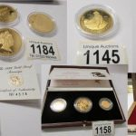 Gold Coin and Silver Coin Collection including Britannia, Krugerands, and Sovereigns