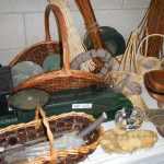 A quantity of wicker baskets and other items