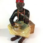 A seated Blackamoor figure