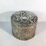 A superb quality German silver trinket pot, 135.9 gms