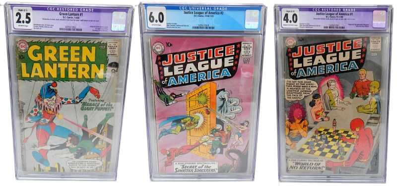 Justice League of America 1 & 2 and Green Lantern comics