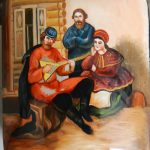 A 20th century hand painted Russian box with 3 signatures