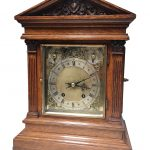 A late Victorian bracket clock with side doors