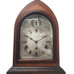 An Victorian inlaid bracket clock