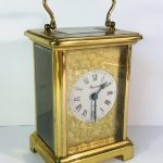 A Bayard French carriage clock with movement by Duverdrey & Bloquel
