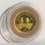 A republic of Palau, 1998 'Marine Life Protection', 1 Dollar gold coin. 1.24g
