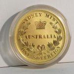 A mint 2005 Sydney Mint One Sovereign / 25 Dollar coin