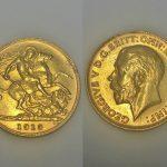 A 1913 George V half sovereign