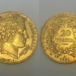 An 1851 French 20 franc coin