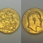 A 1910 Edward VII full sovereign