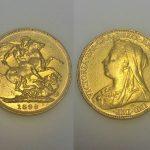 An 1899 Victorian full sovereign