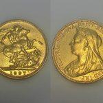 An 1897 Victorian full sovereign