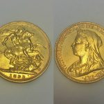 An 1893 Victorian full sovereign