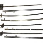 A collection of antique swords