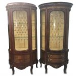 A pair of mid 20th Century display cabinets