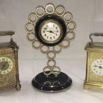 Many clocks including wall, Grandfather, bracket and carriage clocks