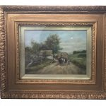 A 19th Century oil on canvas of a rural scene signed Michael Pepper