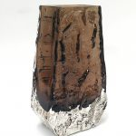 A Whitefriars coffin bark vase designed by Geoffrey Baxter 9686