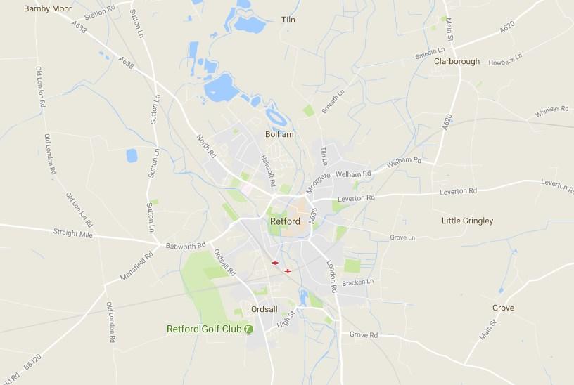 retford area map