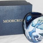 A Moorcroft 'Knypersley' vase with box. Design by Emma Bossons