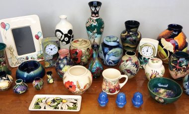 Moorcroft Pottery Collections at New Years Day auction