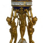 Louis XVI Style Cercle Tournant Clock