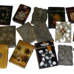 Excellent collection of over 150 Victorian card cases at New Years Day auction