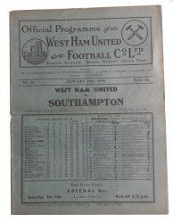 No.26 West Ham United v Southampton January 29th, 1938