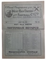 No.1 West Ham United v Tottenham Hotspur August 29th, 1936